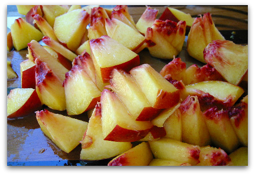 chopped peaches Chutney Love: Recipe for Preserving Summer