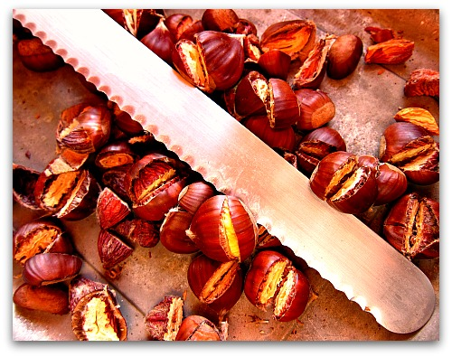 sliced chestnuts Spreading the Chestnut Love