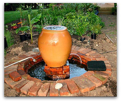 newly built fountain DIY How to Make a Garden Fountain